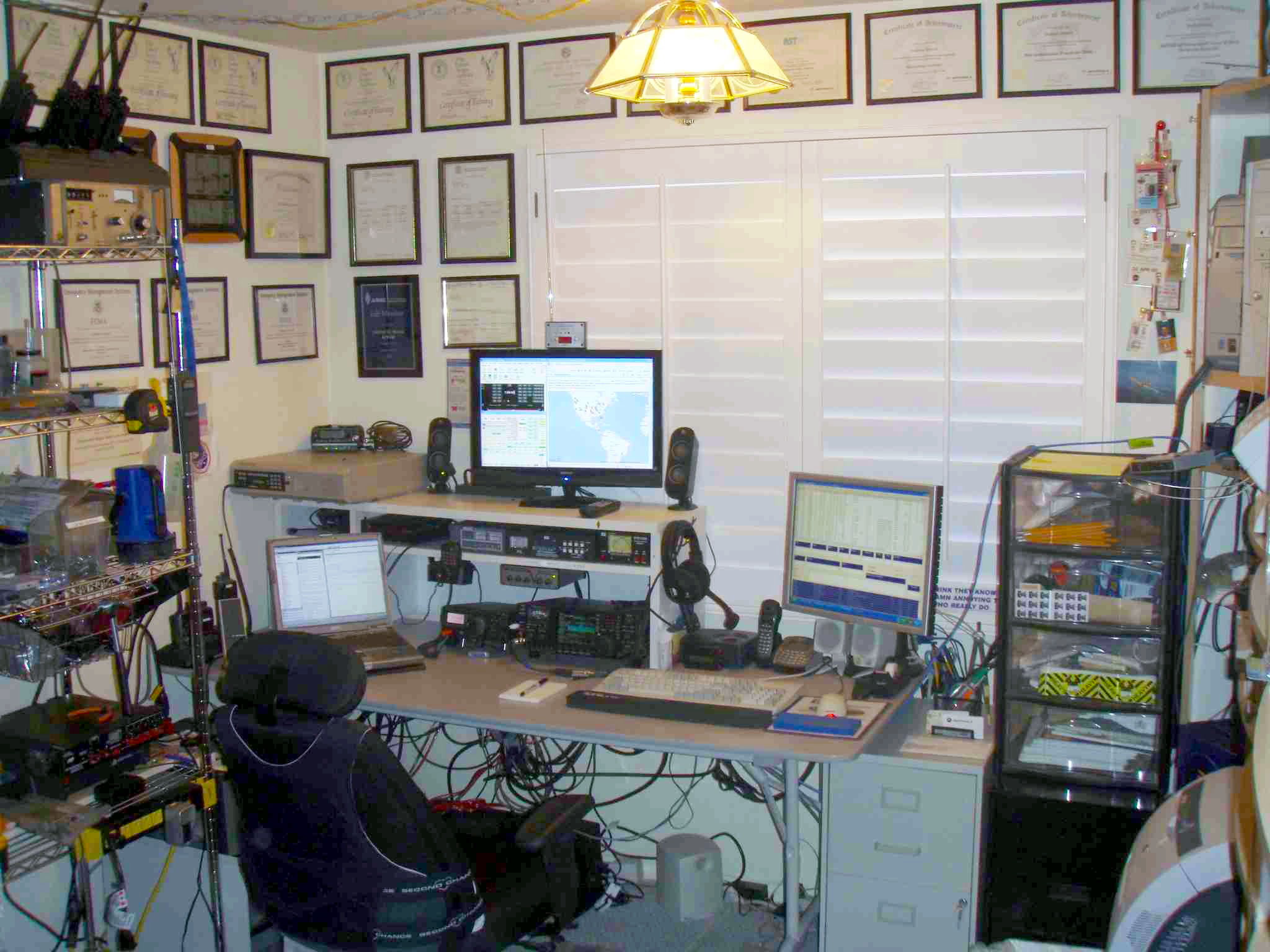 Amateur radio setup