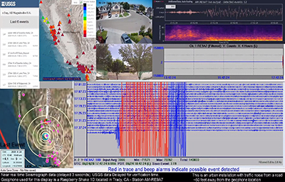 YouTube Live Stream of Raspberry Shake seismograph